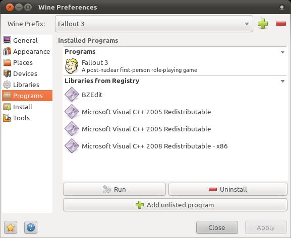 Screenshot of main Vineyard window